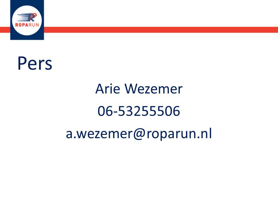 Pers Arie Wezemer 06-53255506 a.wezemer@roparun.nl
