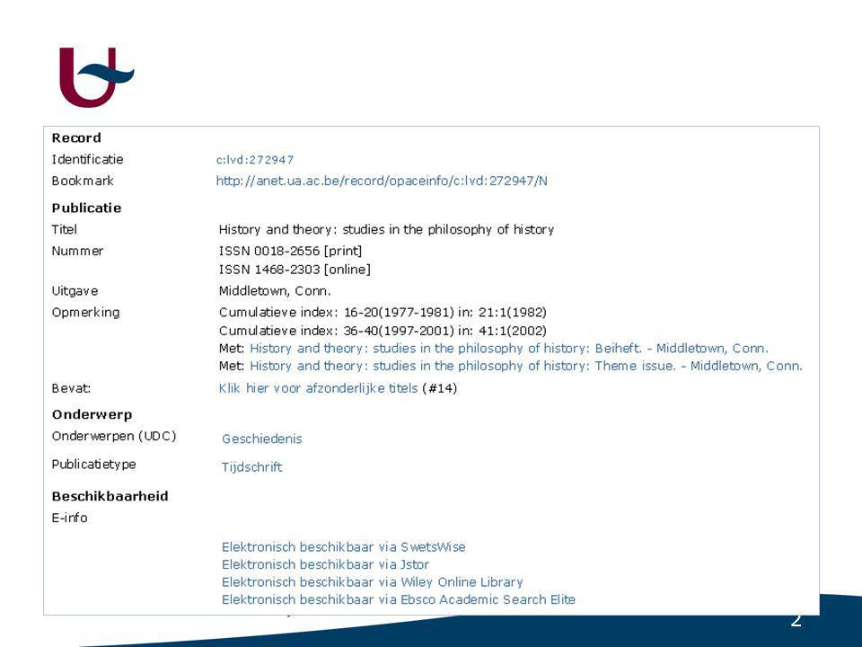 3 Begrippen Titel Interface E-product = Titel + interface -titel ≤ e-producten -Data i.v.m.