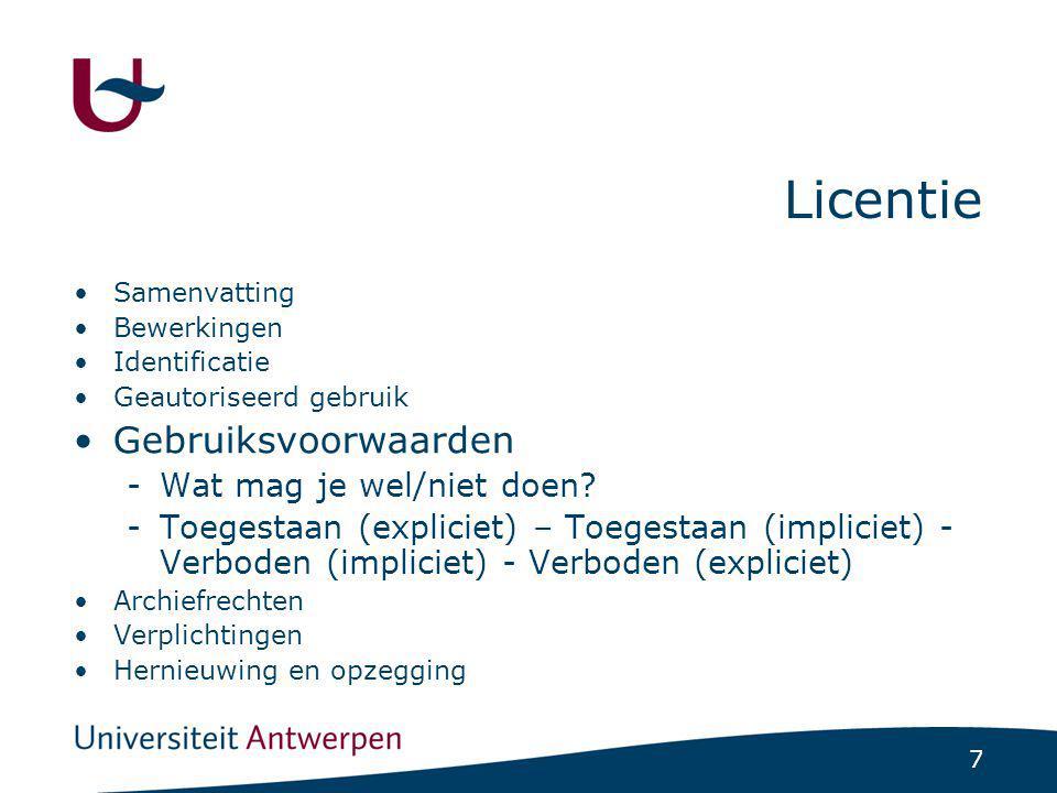 28 Agenda Voorberieding Licenties Interfaces E-Producten Statistieken