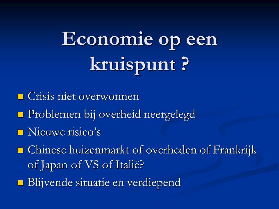 Economie op een kruispunt .