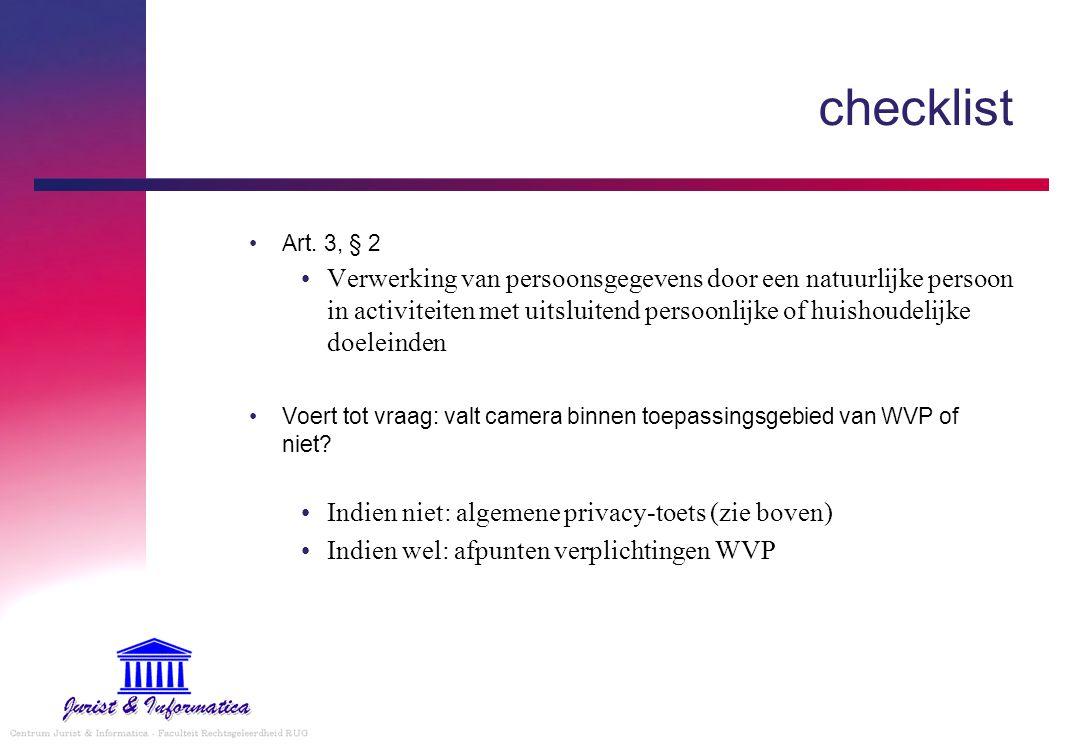 checklist Art.
