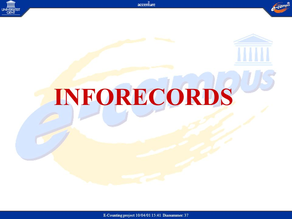 E-Counting project 10/04/01 15:41 Dianummer: 37 INFORECORDS