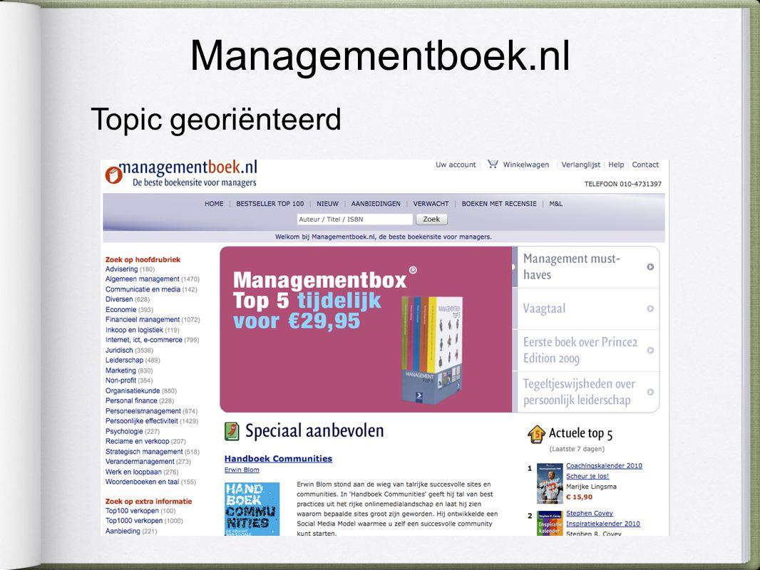Managementboek.nl Topic georiënteerd