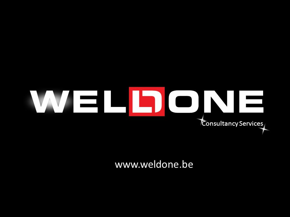 Consultancy Services www.weldone.be