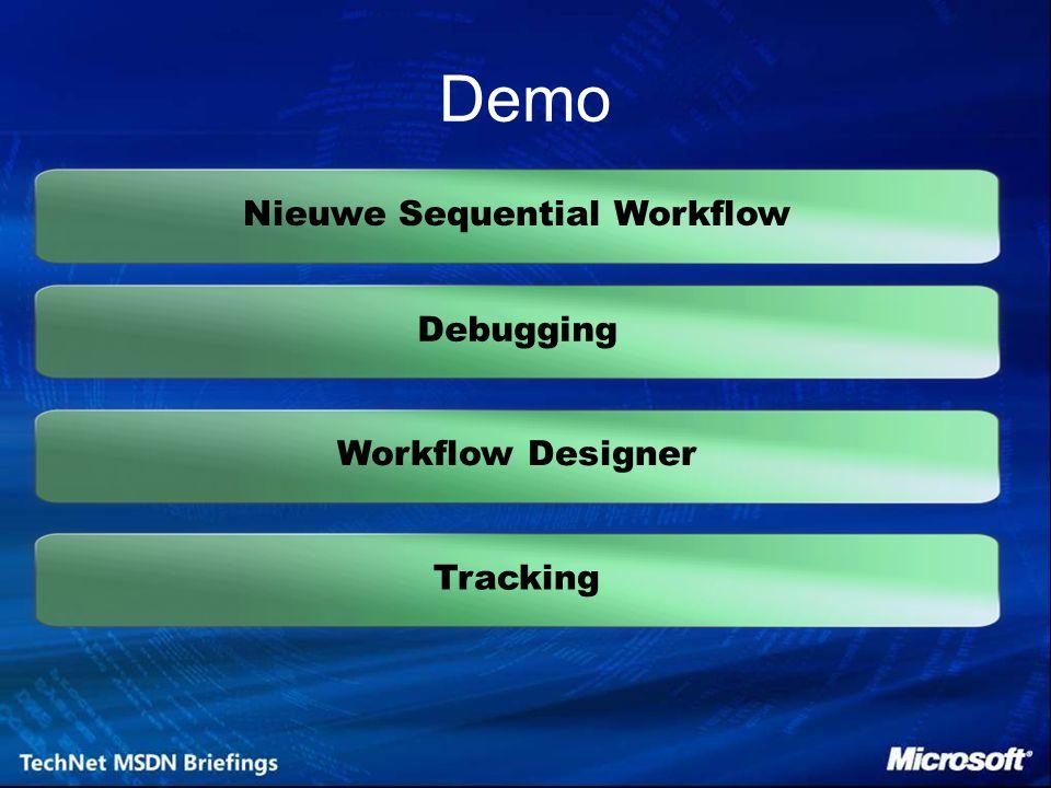 Nieuwe Sequential Workflow Debugging Demo TrackingWorkflow Designer
