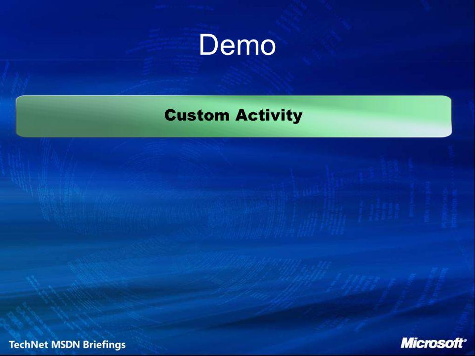 Custom Activity Demo