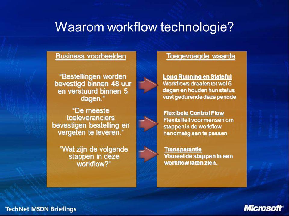 Waarom workflow technologie.