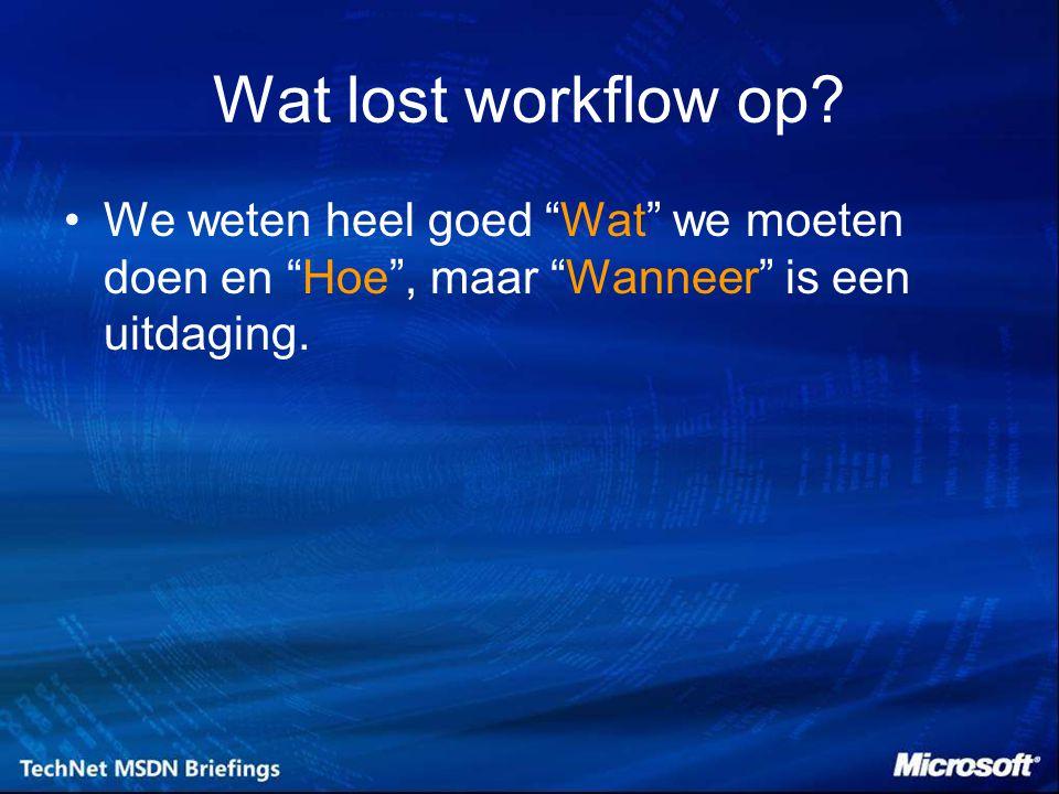 Wat lost workflow op.