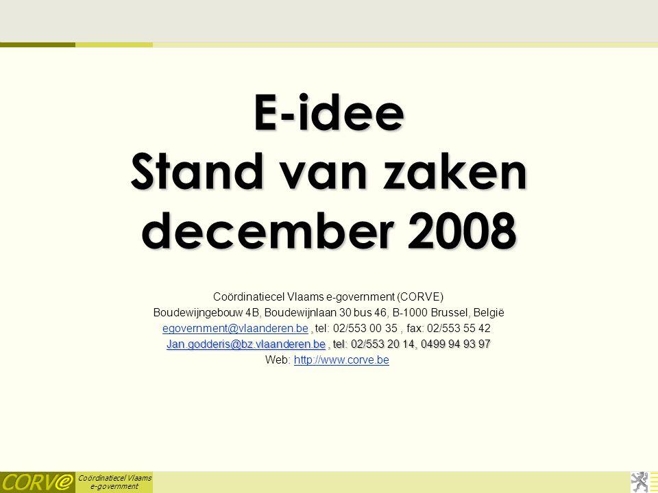 Coördinatiecel Vlaams e-government VKBO-gemeentebestanden  VKBO bezorgt lokale besturen sinds enkele jaren gratis VKBO-gemeentebestanden.