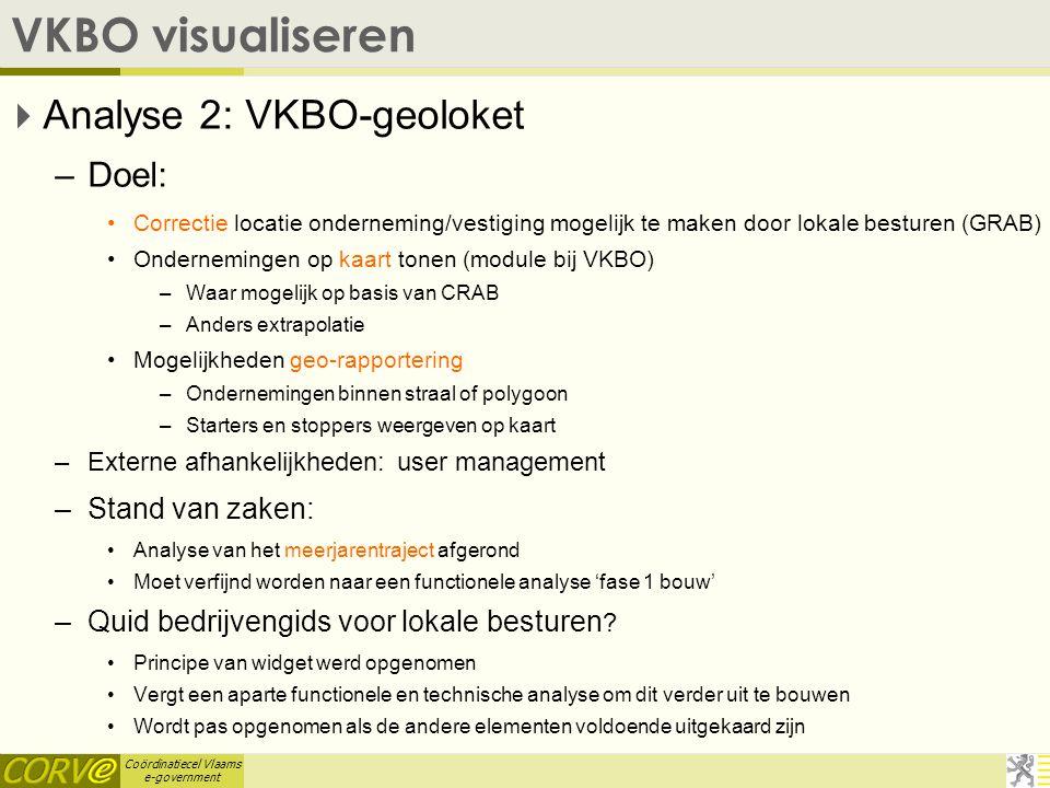Coördinatiecel Vlaams e-government VKBO visualiseren  Feedback is welkom.