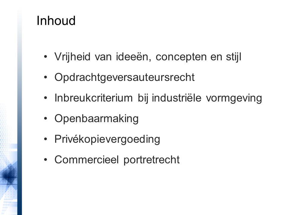 HR 29 maart 2013, Broeren/Duijsens uitsluiting van stijl bevestigd 'De Auteurswet geeft geen exclusief recht aan degene die volgens een – hem kenmerkende – stijl werkt.