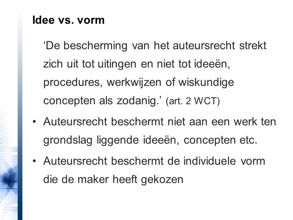 HR 29 maart 2013, Broeren/Duijsens wel mogelijk in bijzondere omstandigheden 'Het vorenstaande sluit niet uit dat slaafse nabootsing van een stijl of van stijlkenmerken onder bijkomende omstandigheden onrechtmatig kan zijn, maar daartoe is niet toereikend dat die nabootsing nodeloos is en bij het publiek verwarring wekt.' (r.o.