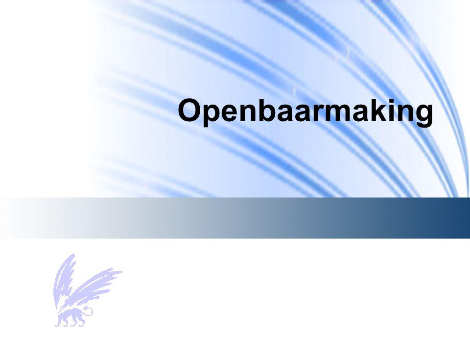 Openbaarmaking