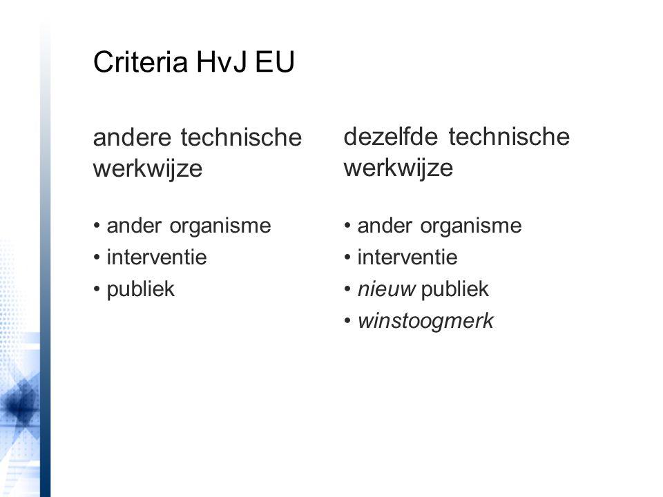 andere technische werkwijze ander organisme interventie publiek dezelfde technische werkwijze ander organisme interventie nieuw publiek winstoogmerk C