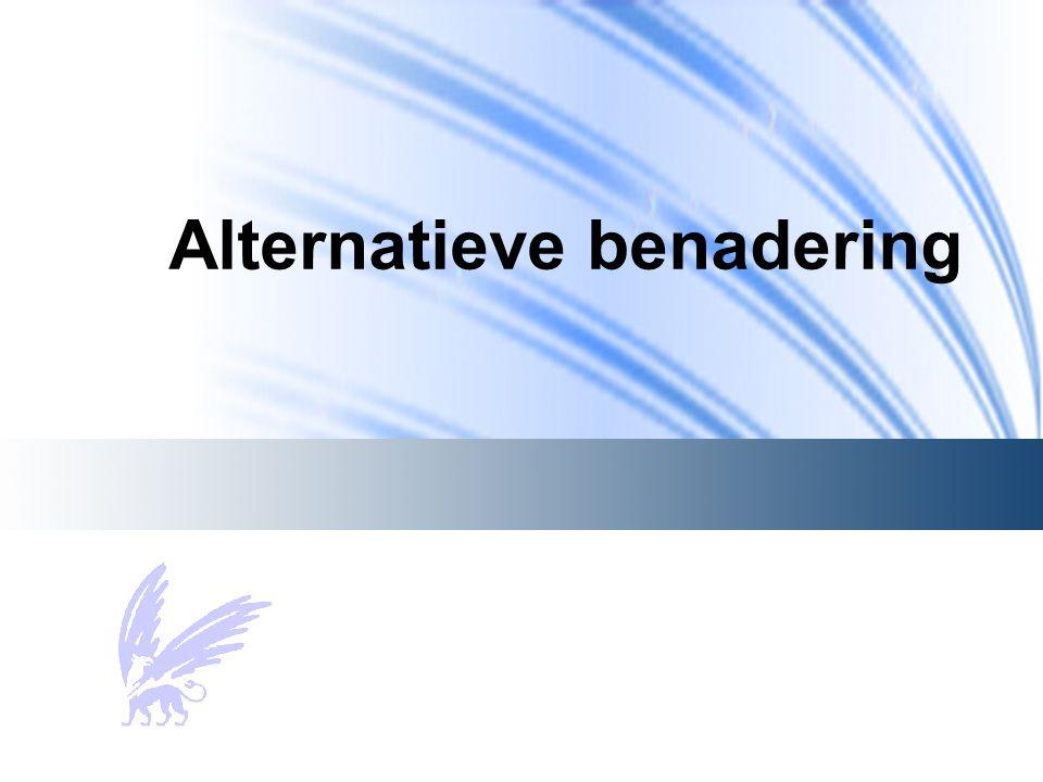 Alternatieve benadering