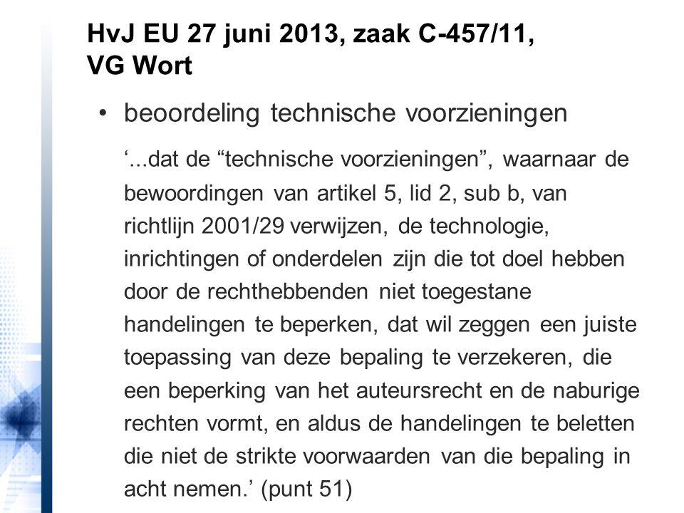 """beoordeling technische voorzieningen '...dat de """"technische voorzieningen"""", waarnaar de bewoordingen van artikel 5, lid 2, sub b, van richtlijn 2001/2"""