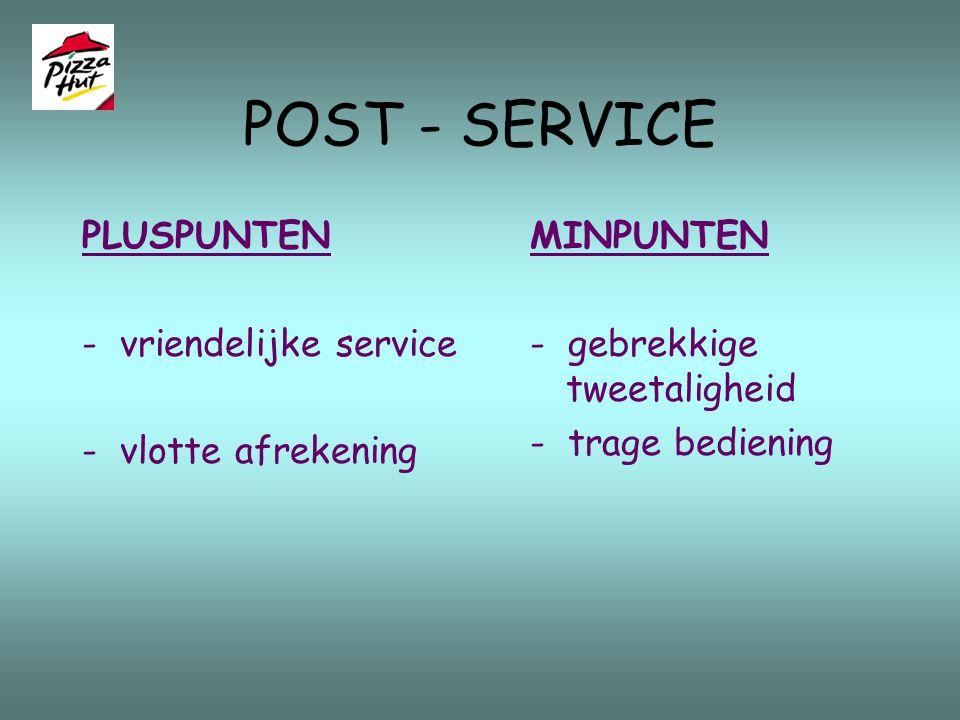 CORE - SERVICE - Laatste fase:de afrekening