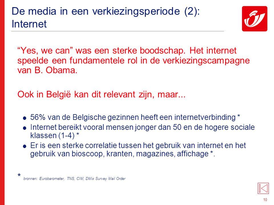 """10 De media in een verkiezingsperiode (2): Internet """"Yes, we can"""" was een sterke boodschap. Het internet speelde een fundamentele rol in de verkiezing"""