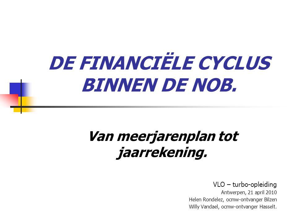 DE FINANCIËLE CYCLUS BINNEN DE NOB.Van meerjarenplan tot jaarrekening.