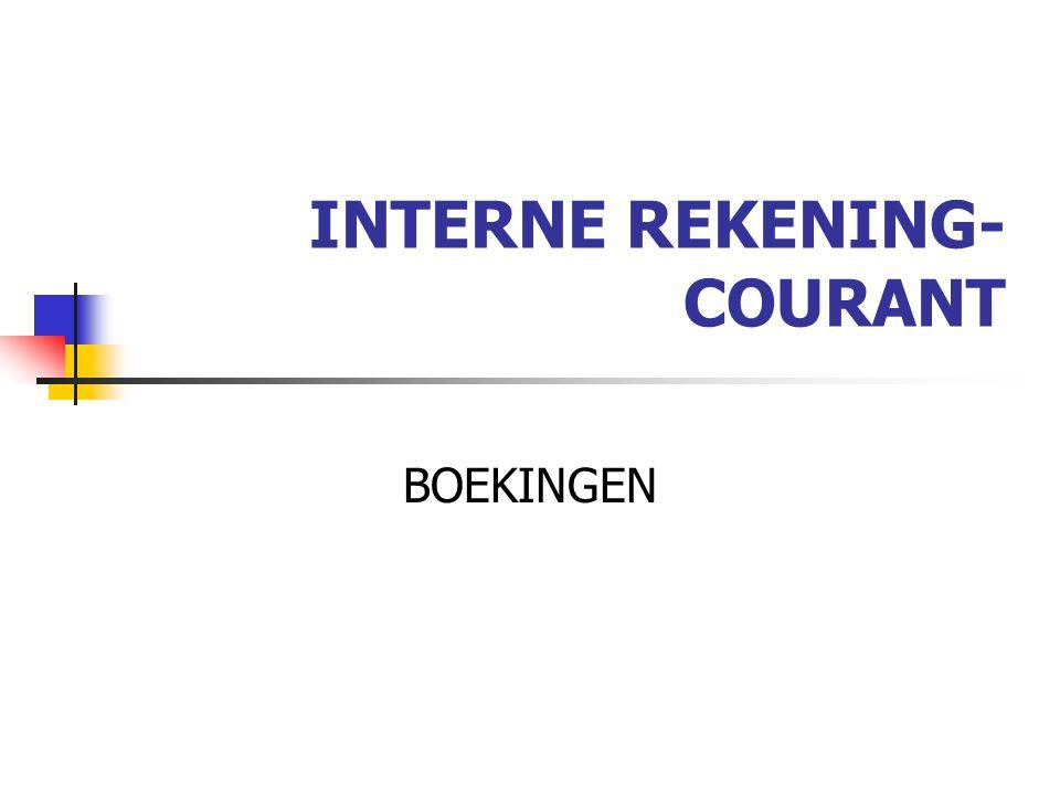INTERNE REKENING- COURANT BOEKINGEN
