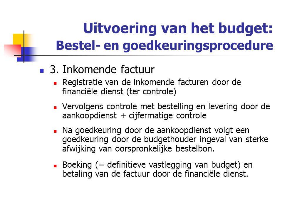 Uitvoering van het budget: Bestel- en goedkeuringsprocedure 3.