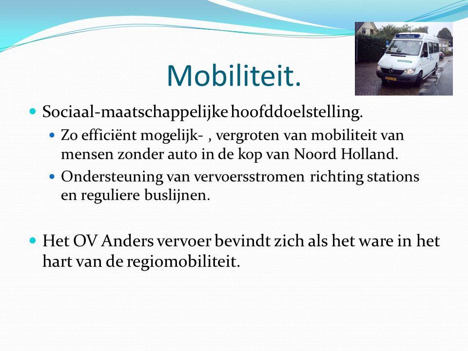 Mobiliteit.Sociaal-maatschappelijke hoofddoelstelling.