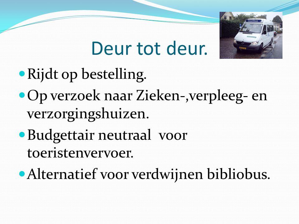Organisatie structuur Toekomst Omni vervoervereniging Noord Holland Noord De Noordkop De Westfries Zijpe- Harenkarspel BergenOostwoud Venhuizen Belbus OV anders