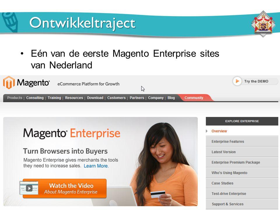 Ontwikkeltraject Eén van de eerste Magento Enterprise sites van Nederland