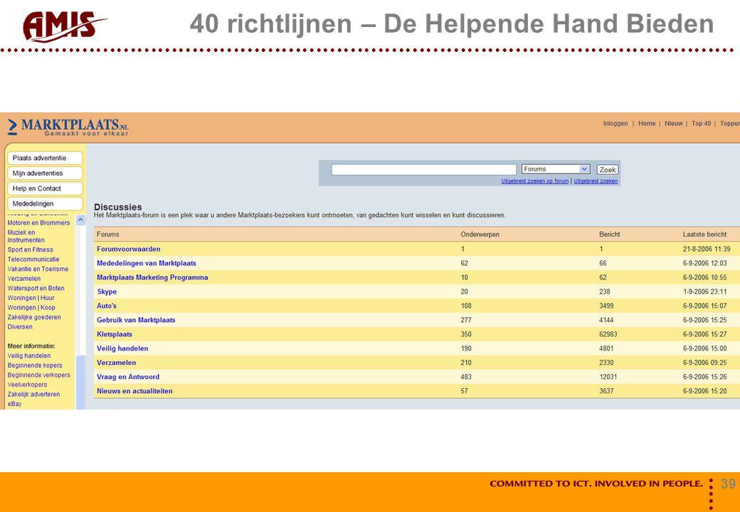 39 40 richtlijnen – De Helpende Hand Bieden