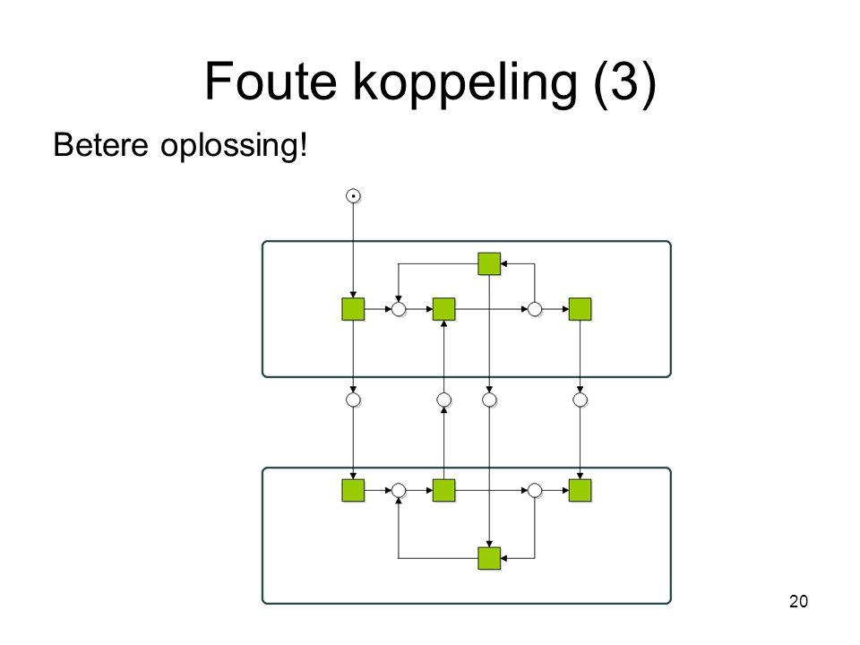 20 Foute koppeling (3) Betere oplossing!