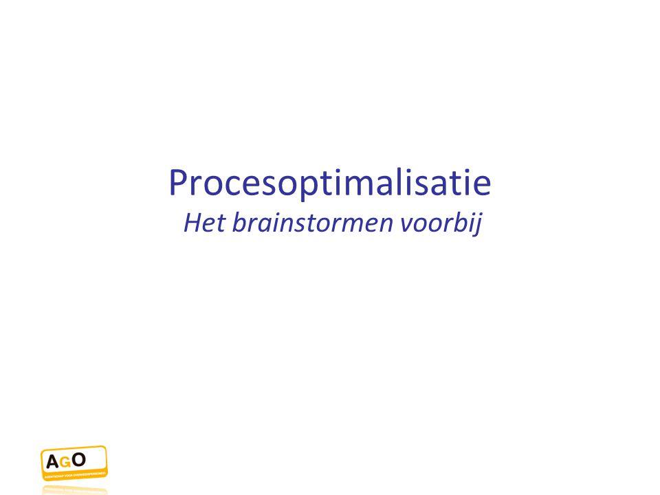 Procesoptimalisatie Het brainstormen voorbij