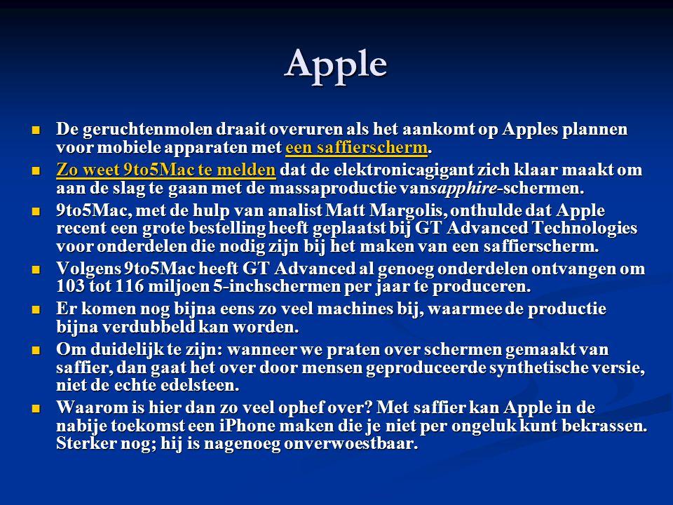 Apple De geruchtenmolen draait overuren als het aankomt op Apples plannen voor mobiele apparaten met een saffierscherm.