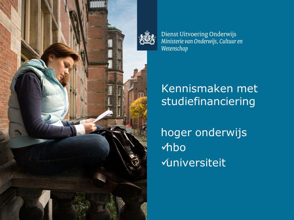 Kennismaken met studiefinanciering hoger onderwijs hbo universiteit
