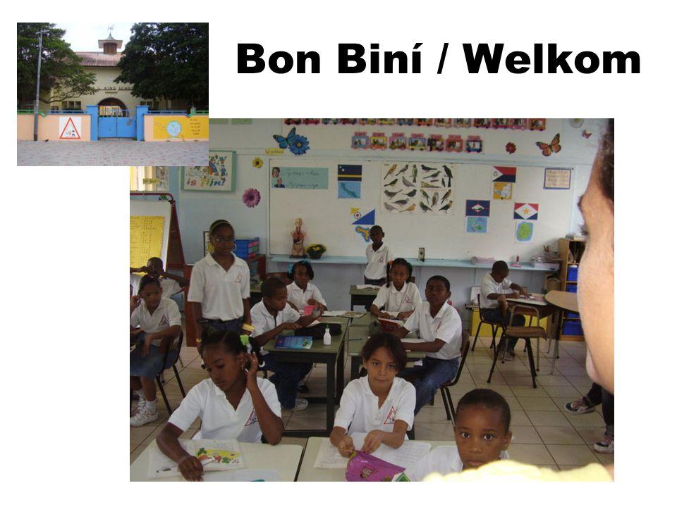 Dit is Curacao, een van de eilanden van de Nederlandse Antillen Hier ligt onze school