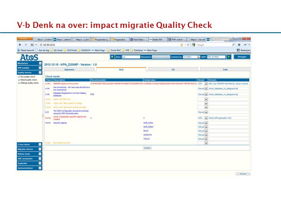 17-11-2011 V-b Denk na over: impact migratie Quality Check HHhHHh ss