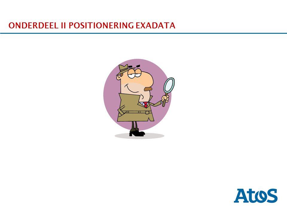 17-11-2011 ONDERDEEL II POSITIONERING EXADATA