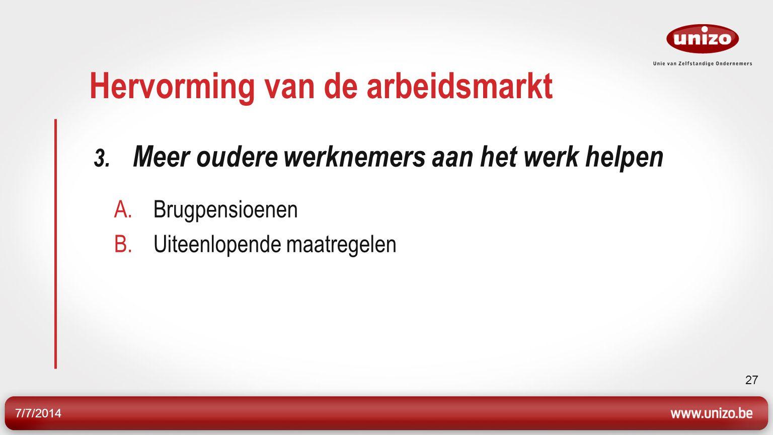 7/7/2014 27 Hervorming van de arbeidsmarkt 3.