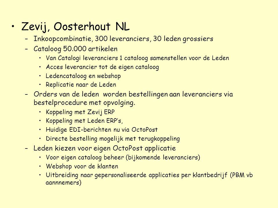 Zevij, Oosterhout NL –Inkoopcombinatie, 300 leveranciers, 30 leden grossiers –Cataloog 50.000 artikelen Van Catalogi leveranciers 1 cataloog samenstel