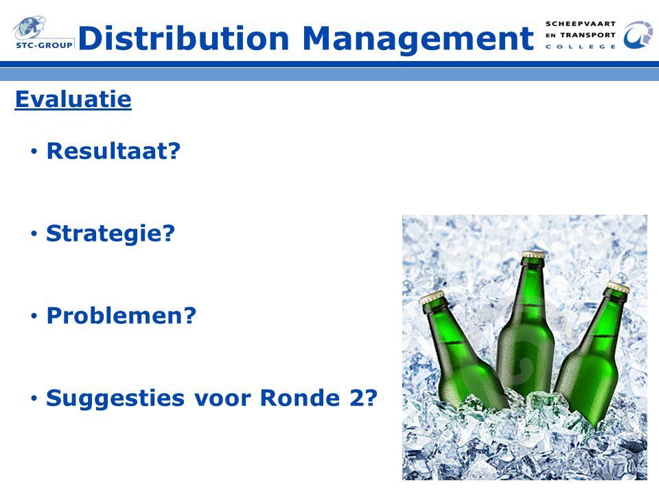 Distribution Management Evaluatie Resultaat? Strategie? Problemen? Suggesties voor Ronde 2?