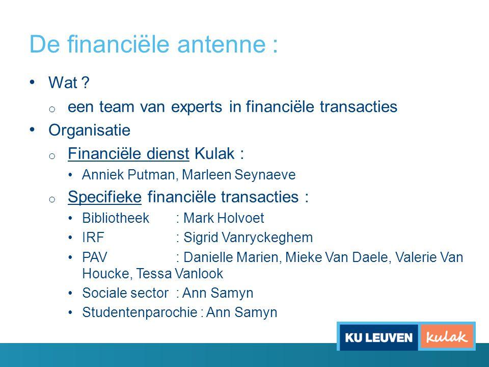 De financiële antenne : Wat .