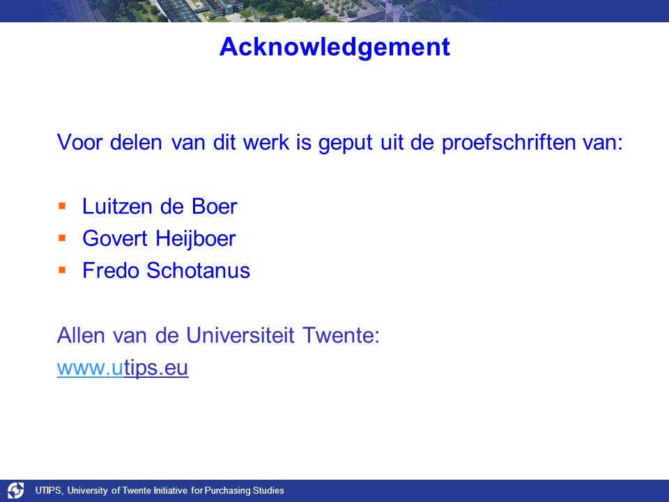Acknowledgement Voor delen van dit werk is geput uit de proefschriften van:  Luitzen de Boer  Govert Heijboer  Fredo Schotanus Allen van de Univers