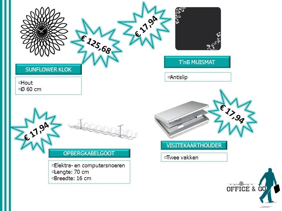  Aanvaardt paperclips en nietjes VERSNIPPERAAR HSM € 71,81 DYMO LABELMAKER  Draagbaar € 54,75 BASIC WHITEBOARD + STIFTEN STAEDLER 6STUKS  45x60cm COMBICLEX  2-in-1 reinigingstool voor toetsenbord en beeldscherm € 45,40 € 2,48