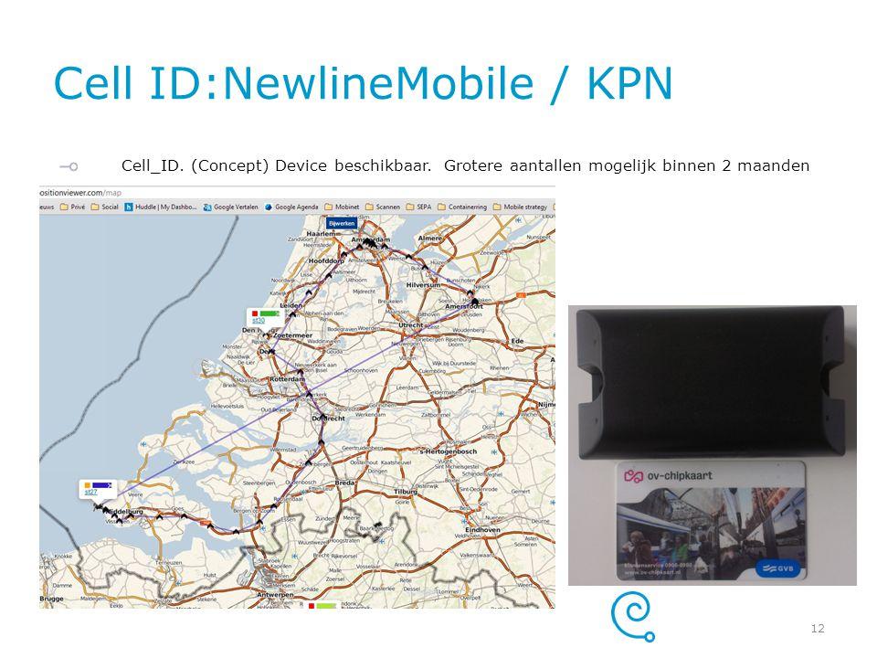 Cell ID:NewlineMobile / KPN Cell_ID. (Concept) Device beschikbaar. Grotere aantallen mogelijk binnen 2 maanden 12