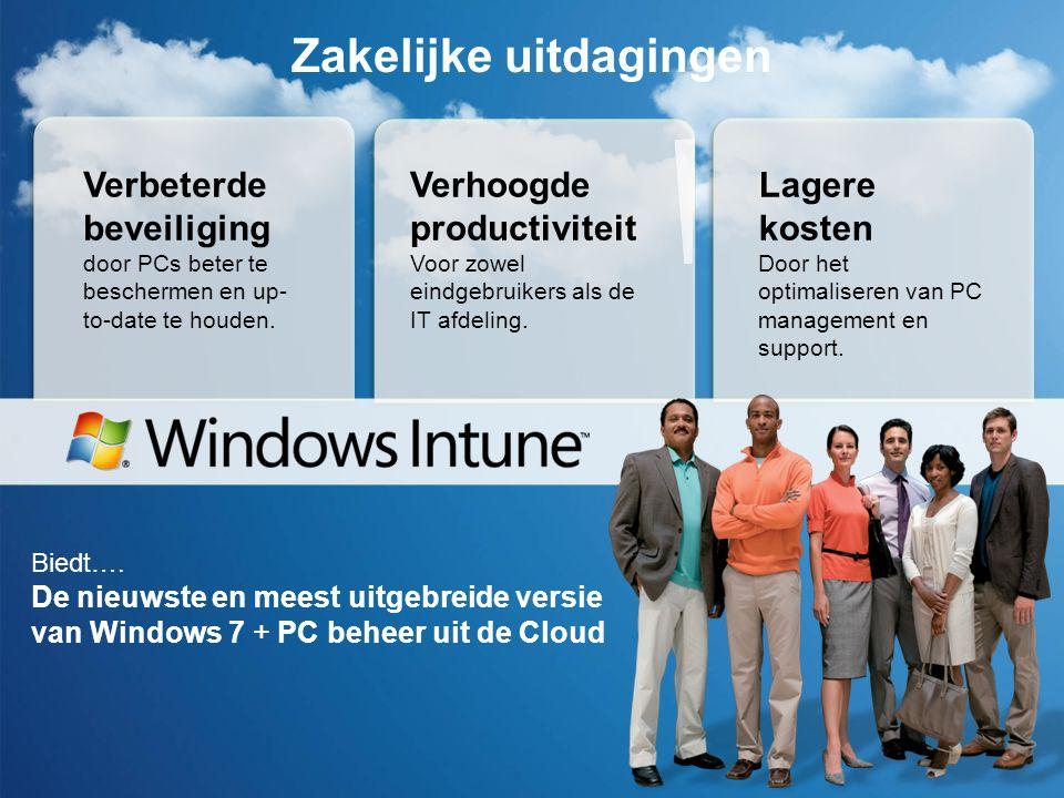 Windows Intune Aankoop proces Microsoft Online Services Klanten Portaal (MOCP) Customer Initiated: Partner ge ïnitieerde order (order on behalf) : Log in als MOCP klant Genereer of bekijk bestelling & identificeer Teken overeenkomst & bevestig bestelling Plaats een bestelling voor de klant Bewerk de e- mail die naar de klant wordt verstuurd
