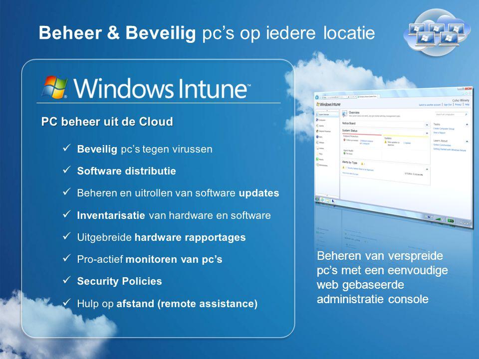 Windows Intune biedt De beste Windows ervaring Windows 7 customer satisfaction: 94%* *Technologizer, March 2010