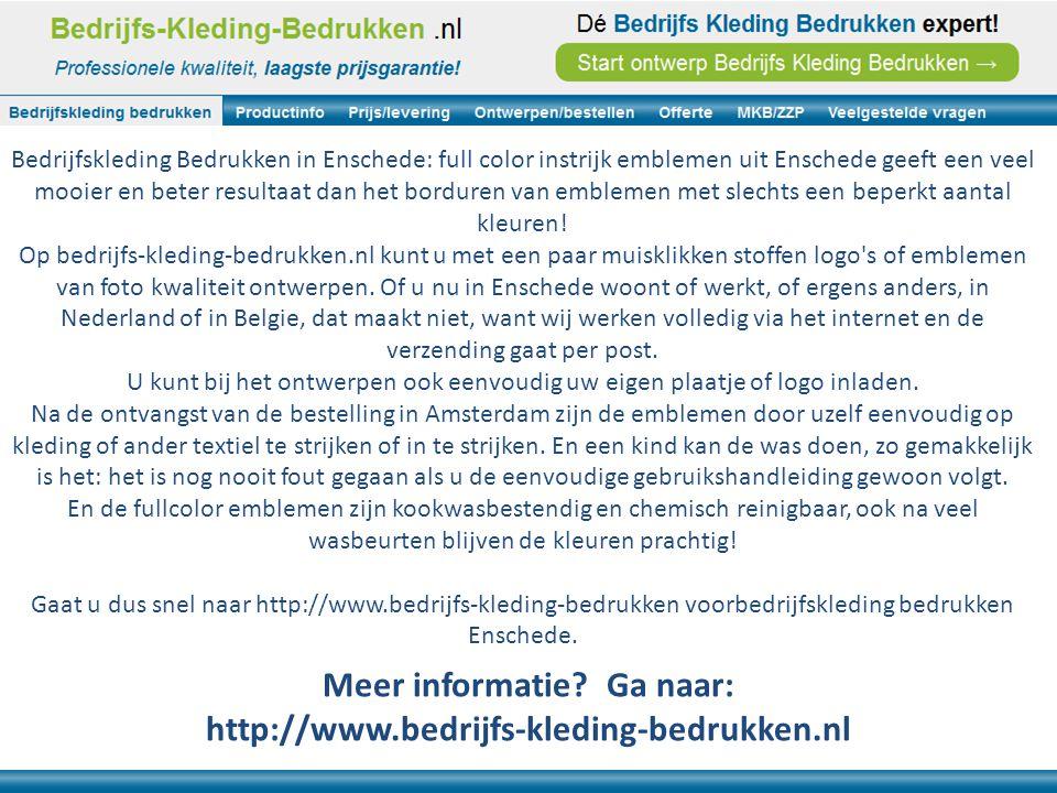 Bedrijfskleding Bedrukken in Enschede: full color instrijk emblemen uit Enschede geeft een veel mooier en beter resultaat dan het borduren van emblemen met slechts een beperkt aantal kleuren.