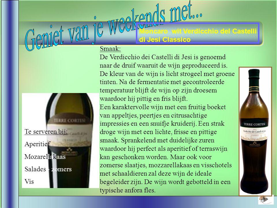 Dom. du Bosc - Chardonnay Sauvignon Smaak : De wijn bezit een briljante, licht strogele kleur.