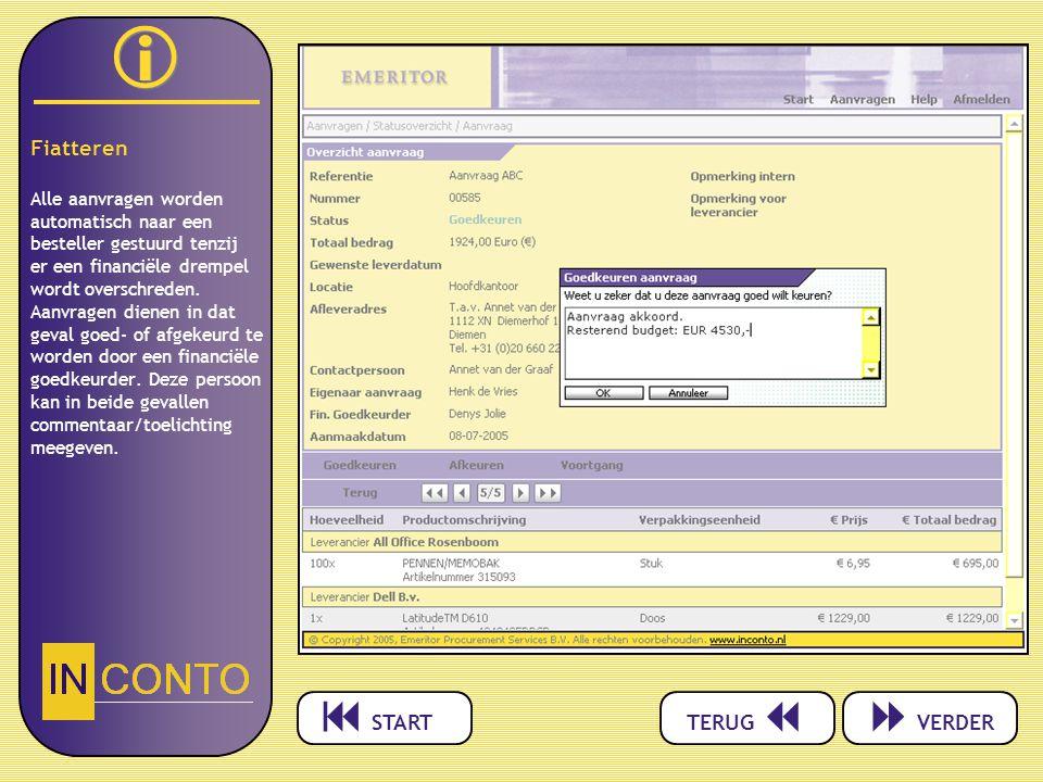   Fiatteren Alle aanvragen worden automatisch naar een besteller gestuurd tenzij er een financiële drempel wordt overschreden.