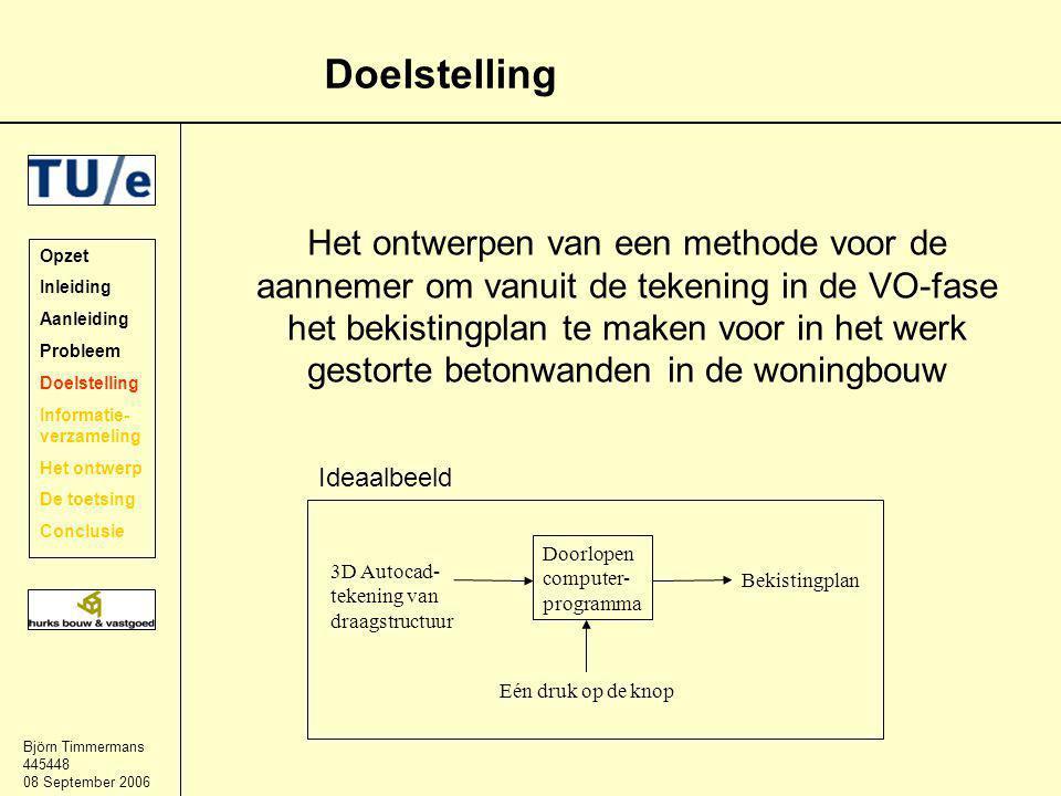 Björn Timmermans 445448 08 September 2006 De toetsing Project Smuldersweg Het principe van de methode –Worden alle aspecten behandeld.