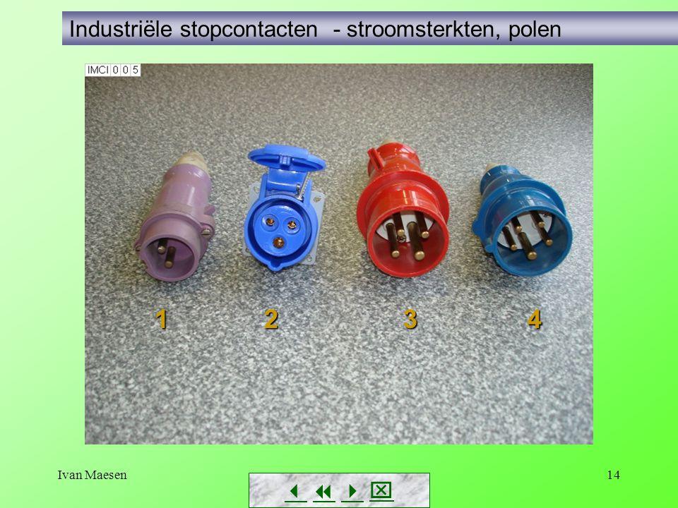 Ivan Maesen14        Industriële stopcontacten - stroomsterkten, polen 1 2 3 4 1 2 3 4